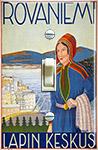 1937 travel poster for Rovaniemi Finland (Lapland - Sami)