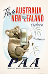 1950 Pan Am Australia New Zealand Poster