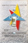 1960 Squaw Valley CA Olympics German Poster