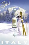1960's Ski Woman Italy