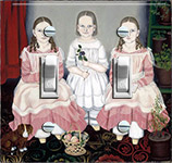 Three Colonial Sisters in Pink