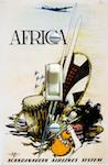 Africa SAS Otto Nielsen Travel Poster