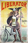 French advertising poster from 1899 for Liborator bicycle company