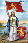 Suomi Woman holding the Flag 1917-18