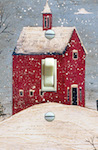 Winter Salt Box House