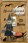 Halloween Ephemera Little Girl Pumpkins