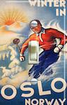 OSLO Vintage Ski Poster