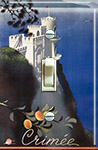 1935 Soviet travel poster Sparrows Nest Palace near Yalta