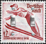 1936 Olympic Stamp Norway