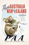 1950 Pan Am Australia New Zealand Poster