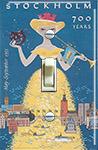 1953 Stockholm festival poster by Curt Blixt
