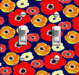 Retro Anemone Flower Wallpaper Double Options
