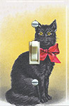Black Cat Red Bow Tie