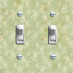 Green Floral Distressed Wallpaper Double/Triple Options