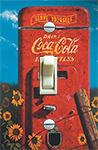 Vintage Coke Machine & Sunflowers