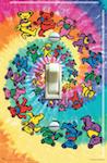 Grateful Dead Spiral Tie Dye Bear Vintage Concert Poster