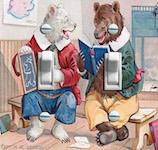 Kept in at School Bear Buddies Illustration