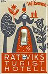 Rattviks Hotel Sweden, Luggage label