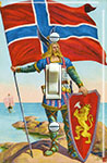 NORWAY- The Viking and his Flag