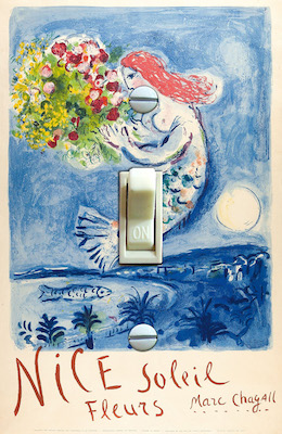 Nice Soleil Fleurs Marc Chagall