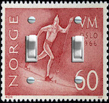 Norge Oslo 1966 olympic Stamp