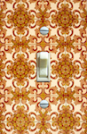 Vintage Burnt Orange and Yellow Baroque Wallpaper