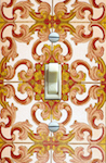 Vintage Burnt Orange and Yellow Baroque Wallpaper 2