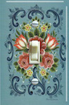 Turquoise Rosemaling
