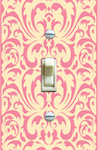 Vintage Pale Yellow and Pink Baroque Wallpaper  - Single Options