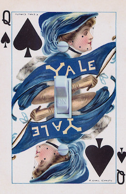 Yale Playing Card Queen of Spades