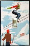 Pochoir Skiers