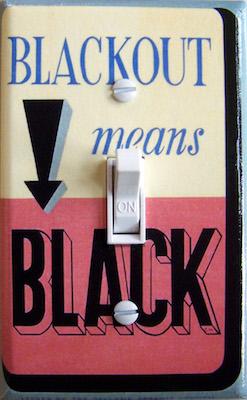 Blackout means Black