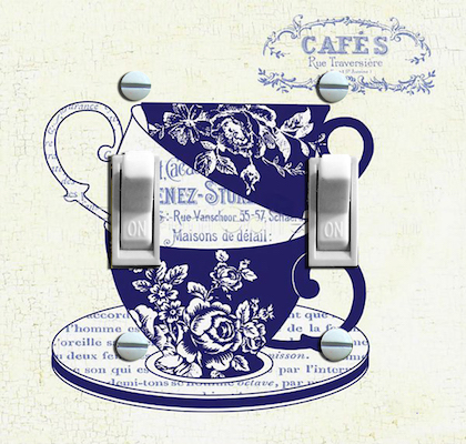 Blue China Tea Cups