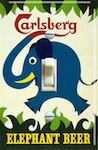 Carlsberg Elephant Beer Vintage Poster