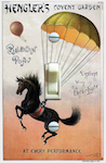 Henglers Baldwin Circus Poster - Parachuting Pony