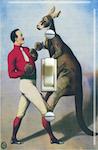 Vintage Boxing Kangaroo Circus Poster