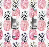 Vintage Pink Pineapple Wallpaper Double Options