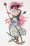 Vintage Fairy Pink Dandilion