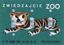 Zwiedzajcie  Zoo Tiger Matchbook